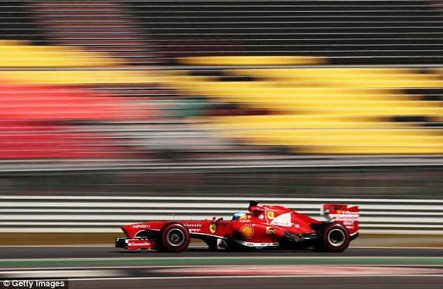 All over: Alonso's already faint chances of overhauling Vettel's 60-point lead in the driver's championship took another blow as he qualified sixth fastest at the Korea International Circuit