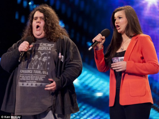 Life-changing moment: Jonathan and Charlotte as they auditioned for Britain's Got Talent - where they eventually ended up in second place in the finals