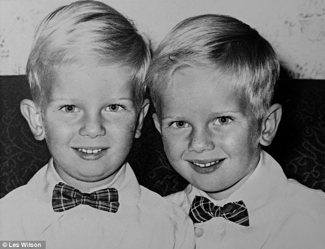 Peas in a pod: Roger, right, and Andrew, left, pictured at the age of six