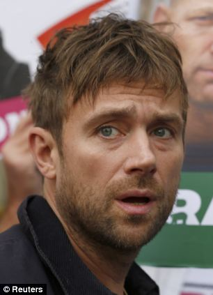 Damon Albarn has expressed support for all the families of the arrested activists but admits 'Russia have a very bad record of bowing to international pressure'