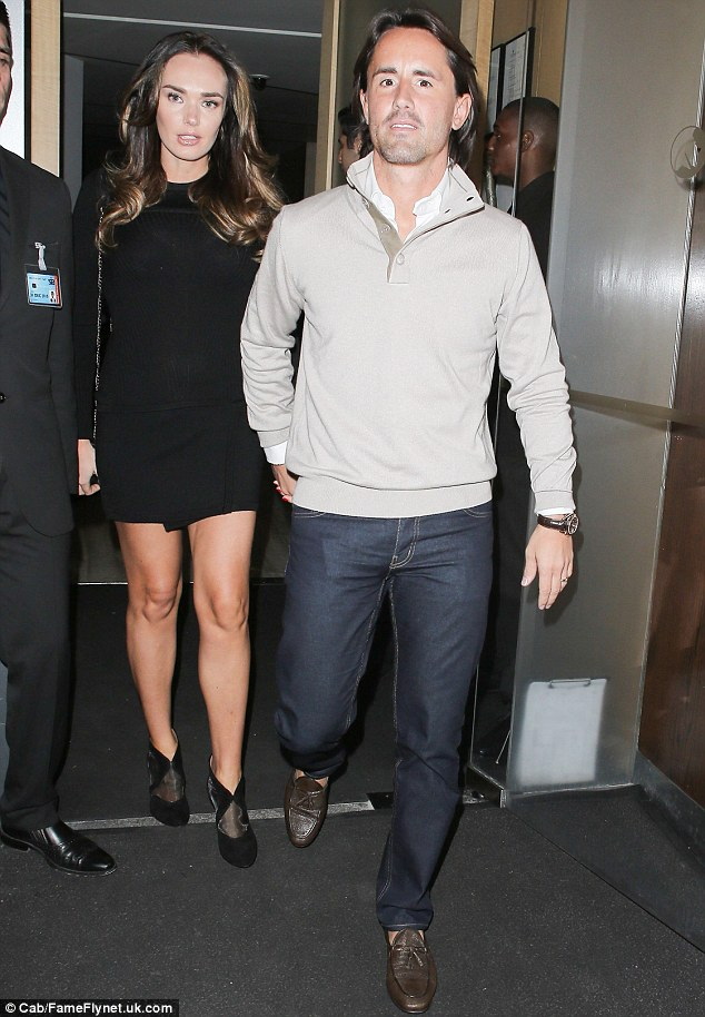 Date night: Tamara Ecclestone and her husband Jay Rutland seemed to be making the most of having some time to themselves before hearing the pitter-patter of tiny feet as they enjoyed a romantic date night on Saturday