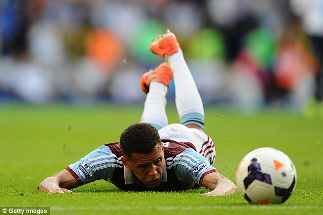 Flat on his face: Ravel Morrison lying on the ground