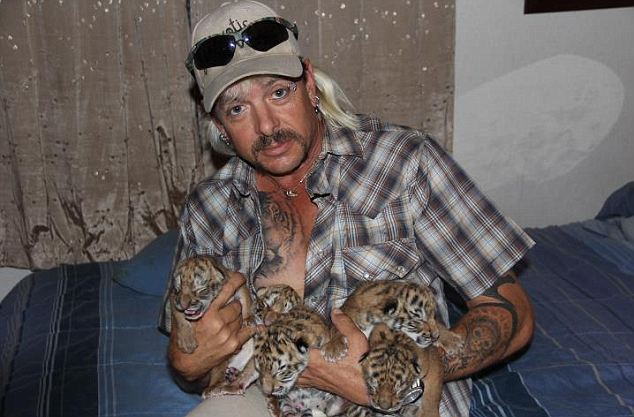 Joe 'Exotic' Schreibvogel, said there was 'no other way of avoiding' incidents like today's other than 'handcuffing' his employees' hands behind their backs