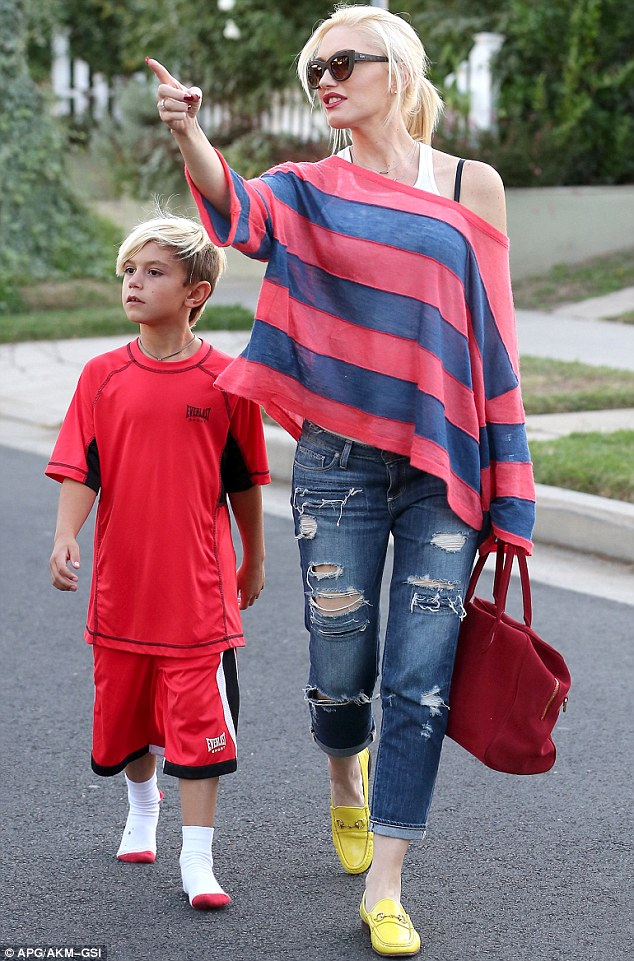 Residential distraction: Something caught the eye of the 44-year-old star, which lead her to sharing it with her son