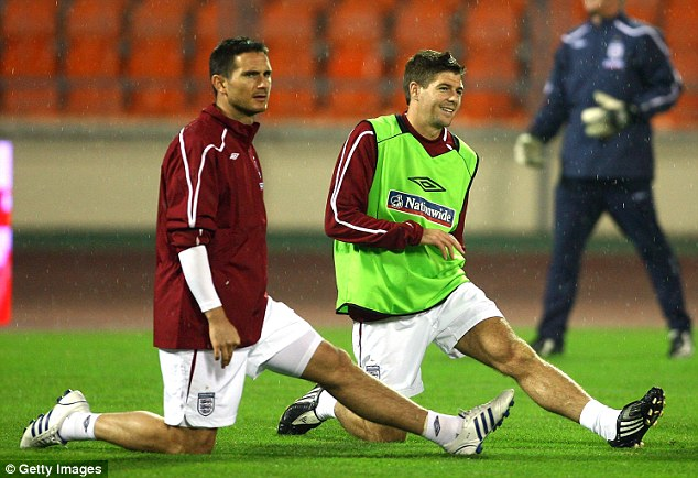 Ever reliable: Frank Lampard and Steven Gerrard never turn down the chance to play for England, but Redknapp says some of the younger players want to withdraw from squads