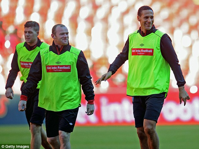 Backing: Rio Ferdinand, Wayne Rooney and Steven Gerrard all wanted Redknapp to get the job