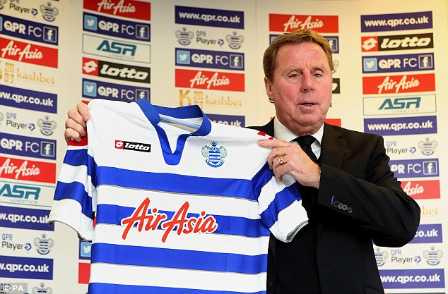 Club class: Redknapp was a day away from taking over as Ukraine manager before QPR made an offer