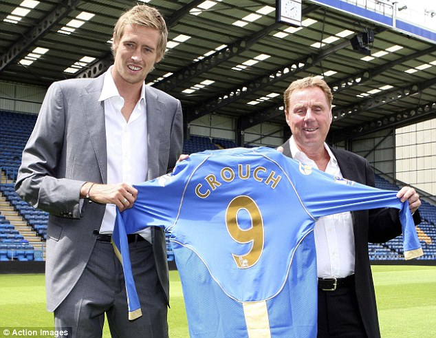 Big deal: Redknapp signed Peter Crouch for Portsmouth on two occasions