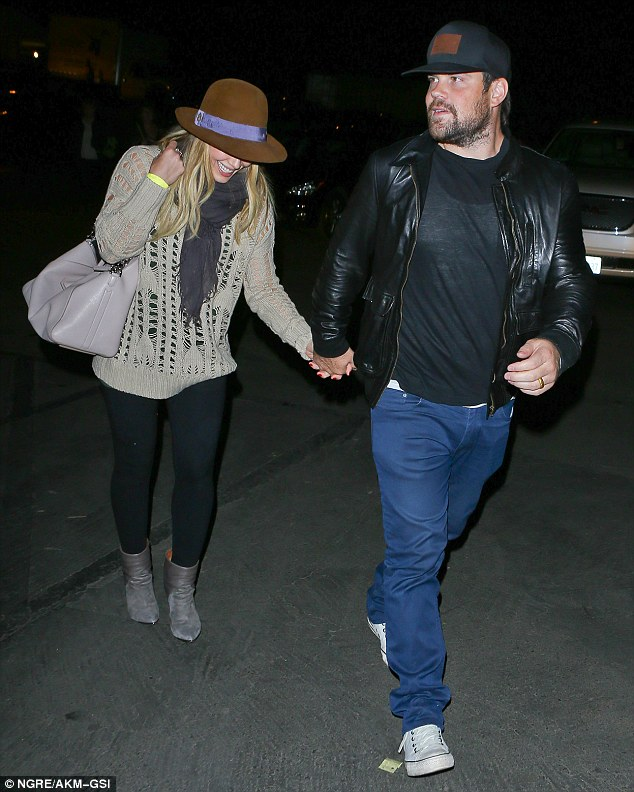 Date night! Hilary Duff and husband Mike Comrie enjoy their second date in as many days