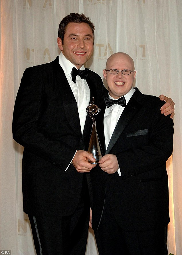 David Walliams and his Little Britain co-star Matt Lucas, right, won Most Popular Comedy Programme at The National Television Awards in 2006