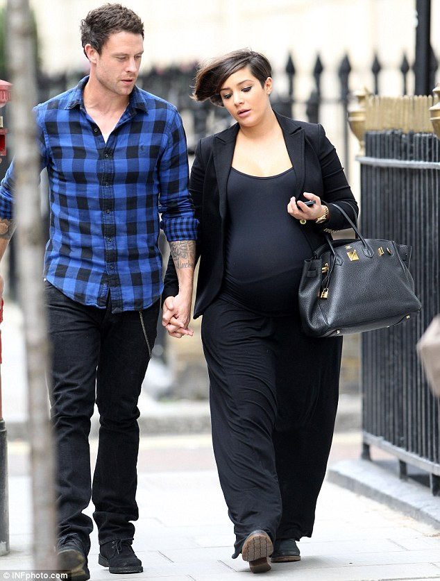 Counting down the days: Bandmate Frankie Sandford was absent from the promo day as she is heavily pregnant with her first child with fiancé Wayne Bridge