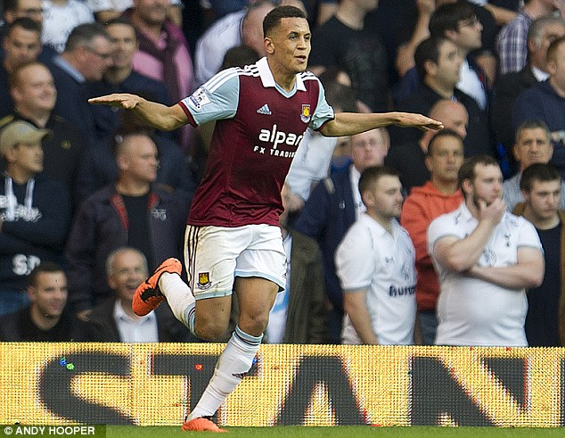 Something to celebrate: Morrison shows his delight following his goal