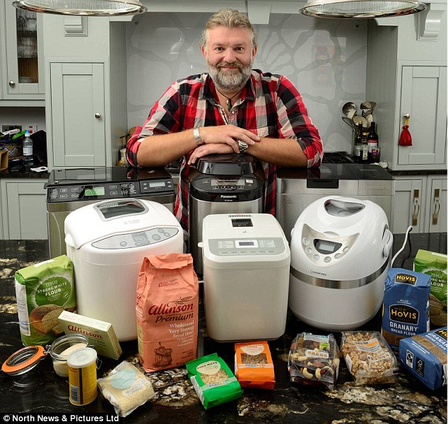 Worth the dough? Hairy Biker Si King has test five breadmakers for the Daily Mail