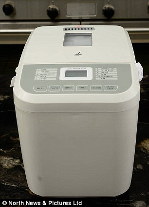 Small: The Lakeland compact breadmaker made loaves that were too small for Si's family while the machine appeared to have been hit with the ugly stick