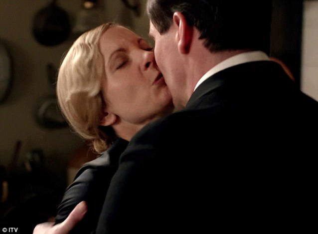 Forceful: Anna Bates played by Joanne Froggatt is raped by Mr Green, played by newcomer Nigel Harman