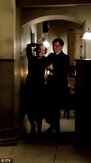 Physical: Mrs Bates is violently dragged into a room before the dastardly Green forces himself upon her