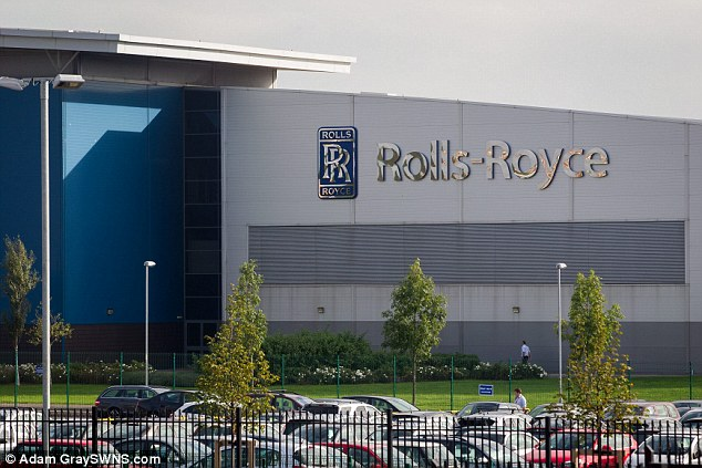 Major incident: Rolls-Royce are investigating after a mystery member of staff smeared excrement around at their Bristol factory (pictured)