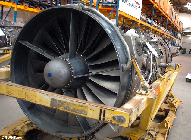 Big job: There are 3,500 employees at the £75m works in Filton, which produces jet engines like these (file picture)