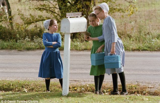 Traditions: Sarah Hershberger (not pictured) and her family are Amish, and their beliefs force them to shun technology and some forms of modern medicine. They also did not want to see Sarah suffer