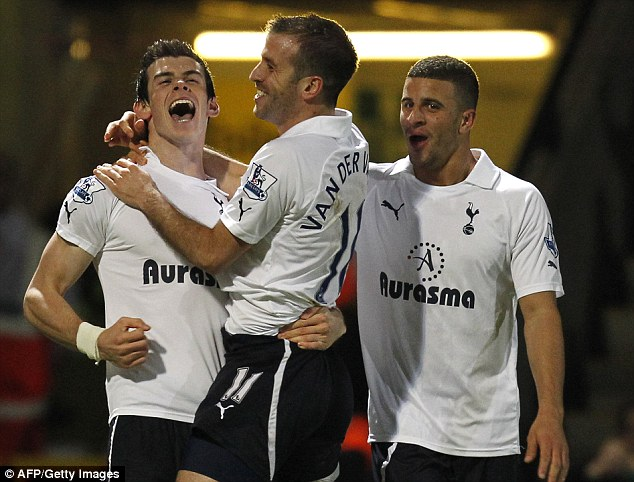 When a plan comes together: Bale celebrates after scoring twice against Norwich