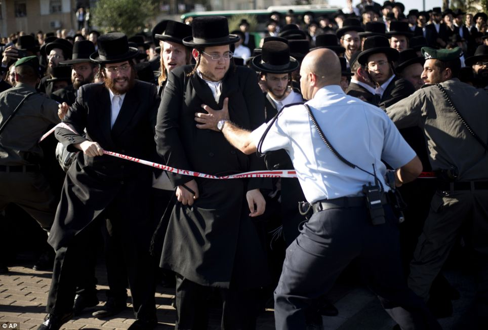Commotion: 20 people were injured in the procession that started at 6pm today in Jerusalem, Israel