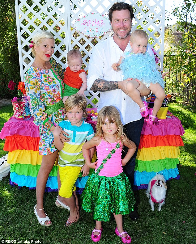 'To include the kids was not wise': Tori and the suicidal 47-year-old are also parents to Hattie, 2, Finn, 21 months, and Stella, who turns 6 next week
