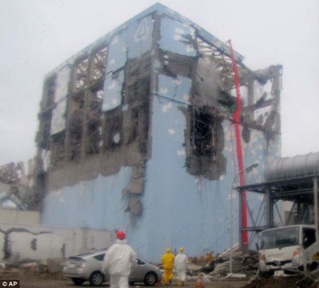The mistake highlights just how vulnerable the power station still is, even two years on from the disaster. Tokyo Electric Power Company are in the process of decommissioning the plant, but admit it may take decades (picture from 2011)