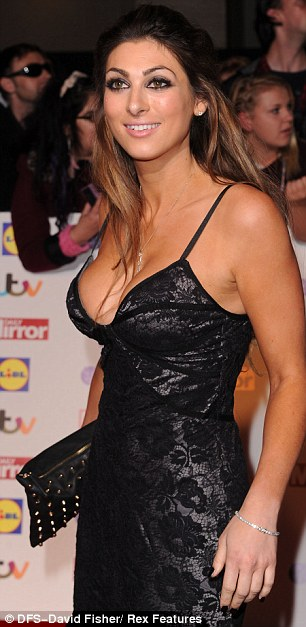 Revealing: Luisa's dress left little to the imagination as she attended the ceremony