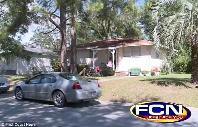 Home: This is the Waycross home that Roberson was shot dead in on Friday after his fianceé phoned for assistance
