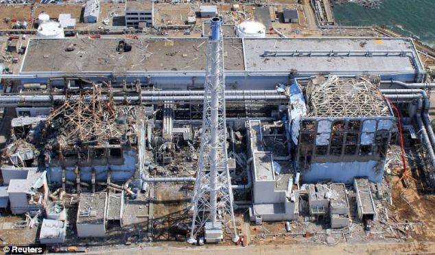 Reactors three (left) and four (right) were badly damaged in the natural disaster which caused the worst nuclear emergency since Chernobyl in 1986