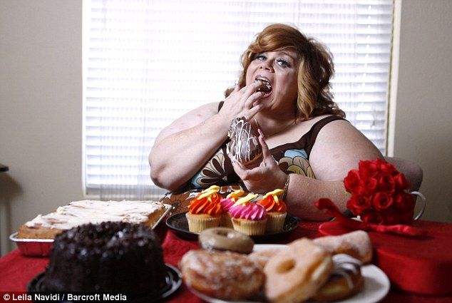 Entrepreneurial spirit: Sammee Matthews who has Sitophilia - an erotic obsession with food - admits she has always struggled with her weight