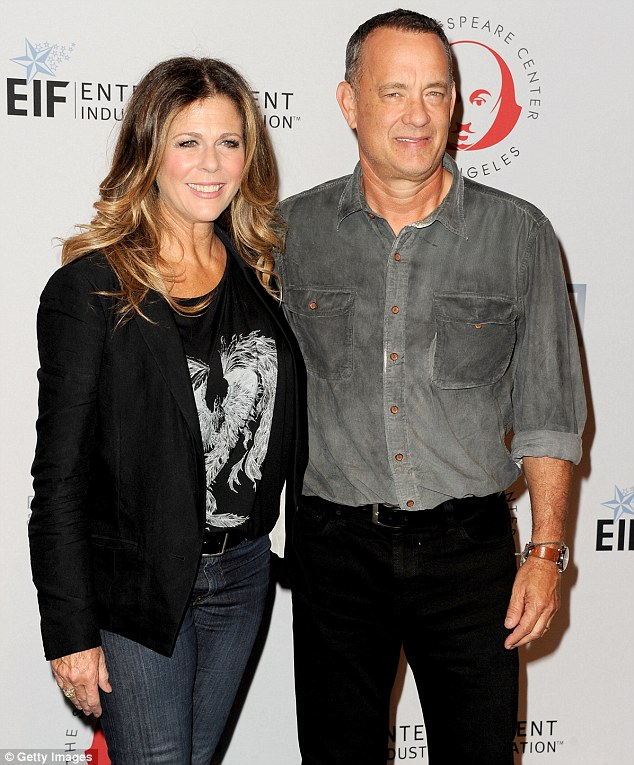 Support: Hanks' wife actress Rita Wilson will be keeping an eye on his diet after it's been revealed he was diagnosed with type 2 diabetes
