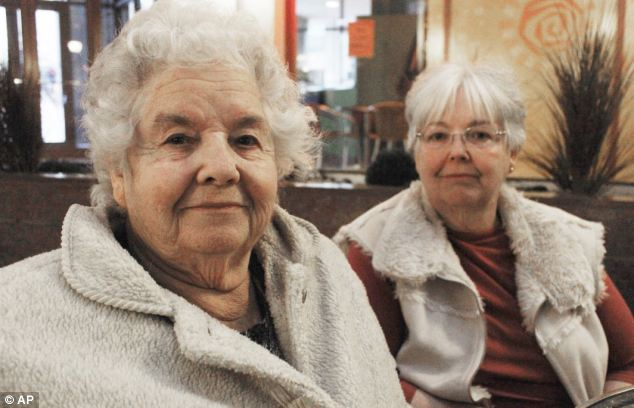Tragedy: Vivian Haas, and her daughter, Linda Rook, pictured in 2011, have continued to endure tragedy. Haas lost her home to a tornado and her granddaughter was shot dead