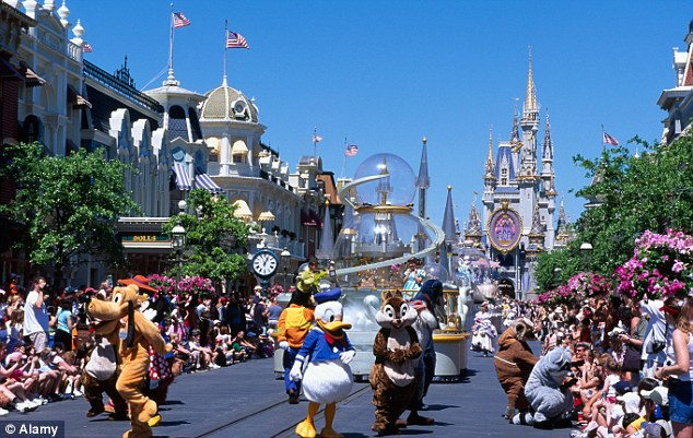 Expensive break: One trip to Disneyland Florida in 2009 with Allen's two children cost £8,700 alone