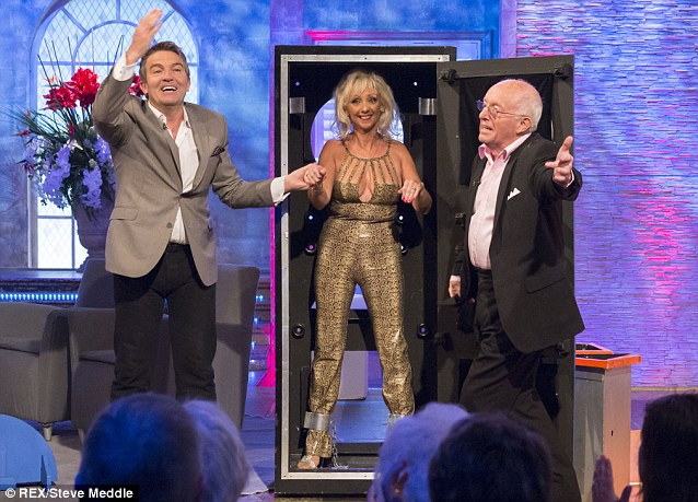 Old friends: McGee tweeted how good it was to see her pal Bradley Walsh on the show
