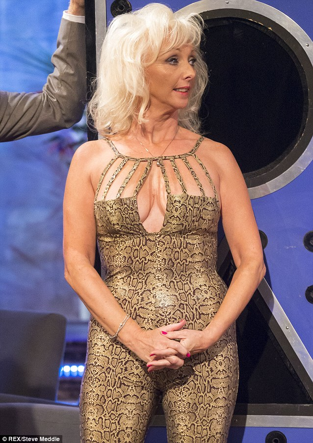 Still got it: Debbie shows off her svelte figure in the tight animal outfit