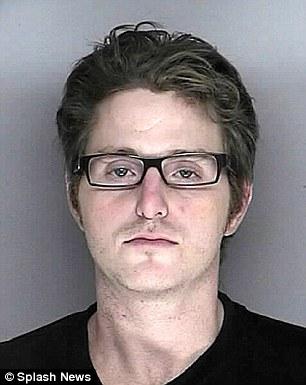 Incarcerated: Cameron Douglas in a police mug shot from 2007