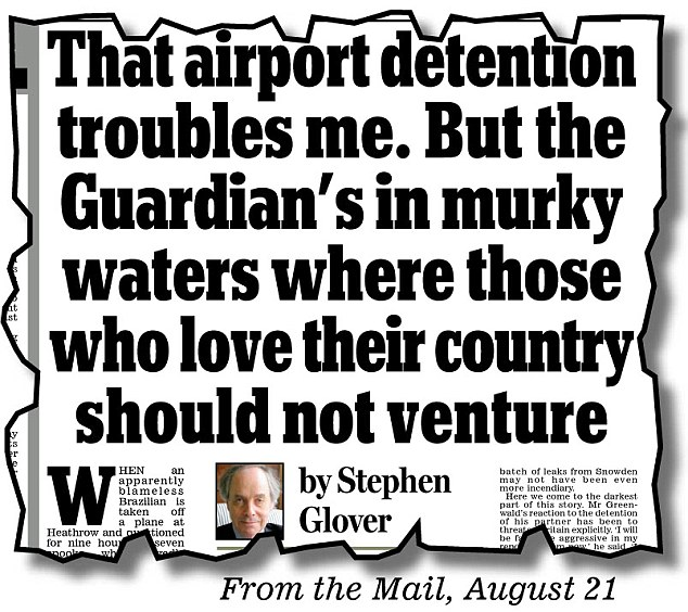Stephen Glover's response to the Guardian's expose