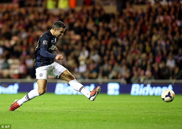 Main man: Robin van Persie enjoyed a fine debut campaign as United's first-choice striker