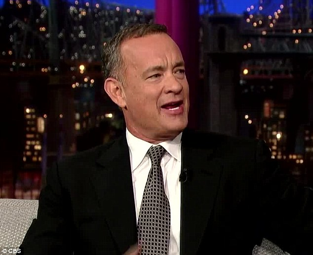 Honest: Tom Hanks revealed to David Letterman on Monday he had been struggling with symptoms of diabetes for 20 years but has now 'graduated' to full-blown Type 2 diabetes