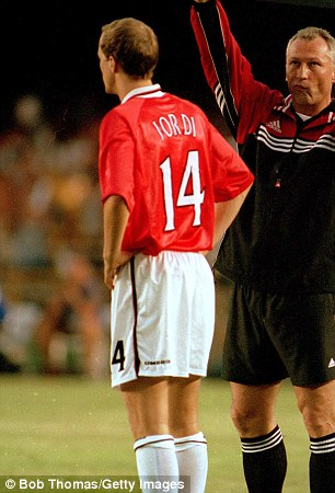 What a father: Ex Manchester United and Holland man Jordi Cruyff used his first name because of the comparison to his great dad Johan