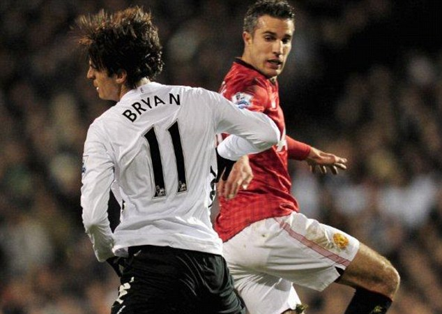 Personal: Fulham's Bryan Ruiz opted for his first name for family reasons