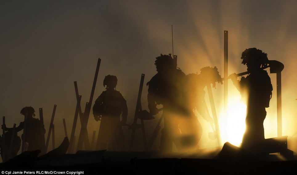 The Professional Operations winning picture, 'Sunset Soldiers'  by Cpl Jamie Peters RLC