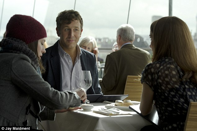 Scene: Kat Dennings plays Darcy Lewis while Chris O'Dowd takes on the role of Richard