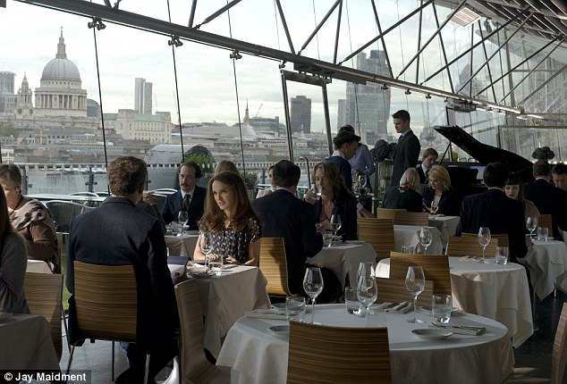 London skyline: Chris O'Dowd and Natalie Portman filming at the Oxo Tower for upcoming Thor: The Dark World