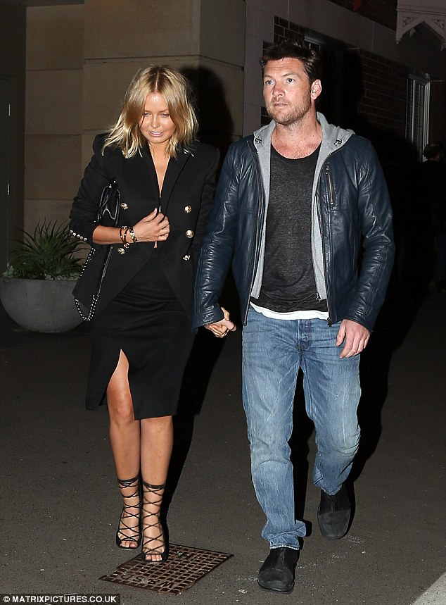 Australian model Lara Bingle is spotted with her new beau, English born Australian actor Sam Worthington