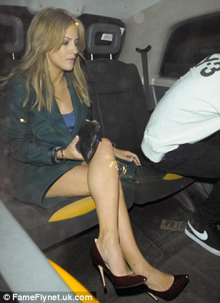 Caroline Flack is seen leaving the trendy Groucho Club in London's Soho