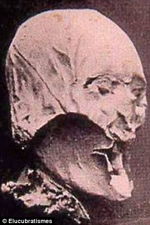 After three years of tests, a centuries-old mummified head, pictured,