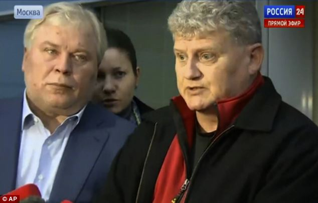 He does not know where he is meeting his son but will be brought to him by lawyer Anatoly Kucherena (left)