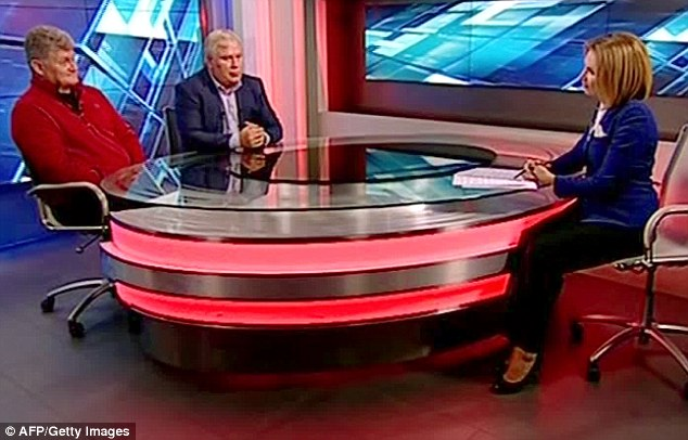 Lon Snowden (left) even appeared on the Rossiya 24 television channel